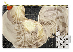 White Rooster Cafe II Carry-all Pouch by Mindy Sommers