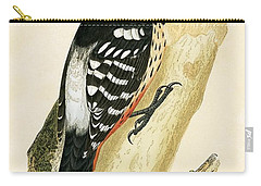 White Rumped Woodpecker Carry-all Pouch by English School