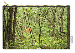 Carry-all Pouch featuring the photograph White-tailed Deer In A Pennsylvania Forest by A Gurmankin