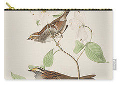 White Throated Sparrow Carry-all Pouch by John James Audubon