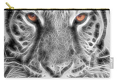 White Tiger Carry-all Pouch by Tom Mc Nemar