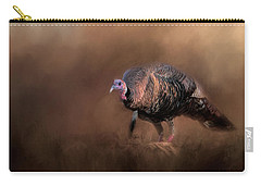 Wild Turkey In The Woods Carry-all Pouch by Jai Johnson