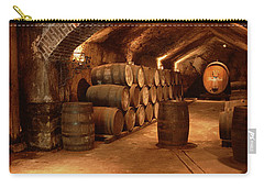 Wine Barrels In A Cellar, Buena Vista Carry-all Pouch by Panoramic Images