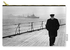 Winston Churchill At Sea Carry-all Pouch by War Is Hell Store