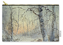 Winter Breakfast Carry-all Pouch by Joseph Farquharson