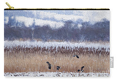 Winter Lapwings Carry-all Pouch by Liz Leyden