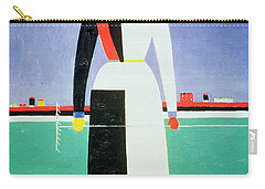 Woman With A Rake Carry-all Pouch by Kazimir Severinovich Malevich