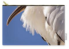 Wonderful Wood Stork Carry-all Pouch by Carol Groenen