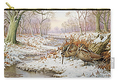 Woodcock Carry-all Pouch by Carl Donner