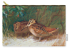 Woodcock In The Undergrowth Carry-all Pouch by Archibald Thorburn