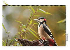 Woodpecker 3 Carry-all Pouch by Heike Hultsch