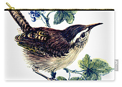 Wren In The Ivy Carry-all Pouch by Nell Hill
