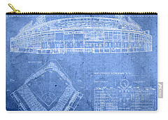 Wrigley Field Chicago Illinois Baseball Stadium Blueprints Carry-all Pouch by Design Turnpike