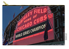 Wrigley Field World Series Marquee Carry-all Pouch by Steve Gadomski