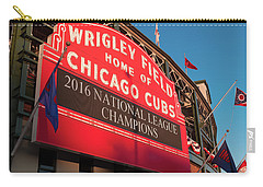 Wrigley Field Marquee Angle Carry-all Pouch by Steve Gadomski