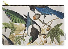 Yellow-billed Magpie Stellers Jay Ultramarine Jay Clark's Crow Carry-all Pouch by John James Audubon