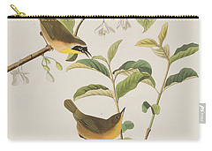 Yellow-breasted Warbler Carry-all Pouch by John James Audubon