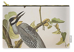 Yellow Crowned Heron Carry-all Pouch by John James Audubon