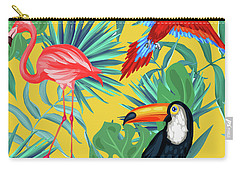Yellow Tropic  Carry-all Pouch by Mark Ashkenazi