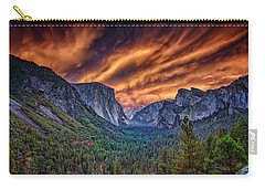 Yosemite Fire Carry-all Pouch by Rick Berk