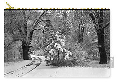 Yosemite Valley Winter Trail Carry-all Pouch by Underwood Archives
