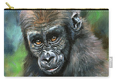 Young Gorilla Carry-all Pouch by David Stribbling