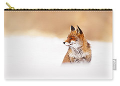 Zen Fox Series - Zen Fox In Winter Mood Carry-all Pouch by Roeselien Raimond