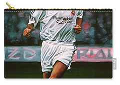 Zidane At Real Madrid Painting Carry-all Pouch by Paul Meijering