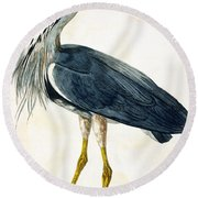 The Heron  Round Beach Towel by Peter Paillou