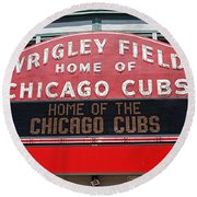 0334 Wrigley Field Round Beach Towel by Steve Sturgill
