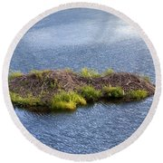 Beaver Lodge Round Beach Towel by Bob Gibbons