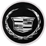 Cadillac Emblem Round Beach Towel by Jill Reger