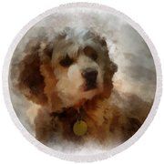 Cocker Spaniel Photo Art 01 Round Beach Towel by Thomas Woolworth