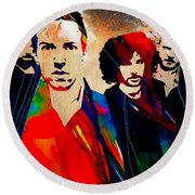Coldplay Collection Round Beach Towel by Marvin Blaine