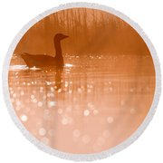 Early Morning Magic Round Beach Towel by Roeselien Raimond