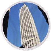 Empire State Building Round Beach Towel by Jon Neidert