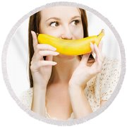 Going Fruity And Bananas Round Beach Towel by Jorgo Photography - Wall Art Gallery