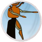 Gorgon, Legendary Creature Round Beach Towel by Photo Researchers