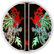 Mech Dragons Pastel Round Beach Towel by Shawn Dall