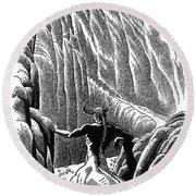 Minotaur, Legendary Creature Round Beach Towel by Photo Researchers