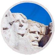 Mount Rushmore, South Dakota, Usa Round Beach Towel by Panoramic Images