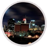 Nashville Panoramic View Round Beach Towel by Frozen in Time Fine Art Photography