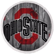 Ohio State Buckeyes Round Beach Towel by Dan Sproul