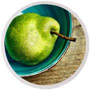 Pears Round Beach Towel by Nailia Schwarz