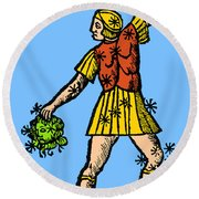Perseus Constellation 15th Century Round Beach Towel by Science Source