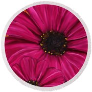 Purple Beauty Round Beach Towel by Lourry Legarde