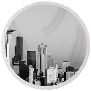 Skyline, Seattle, Washington State, Usa Round Beach Towel by Panoramic Images