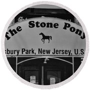 Stone Pony Round Beach Towel by Paul Ward