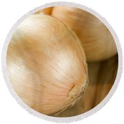 Unpeeled Onions Round Beach Towel by Jorgo Photography - Wall Art Gallery