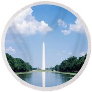 Washington Monument Washington Dc Round Beach Towel by Panoramic Images